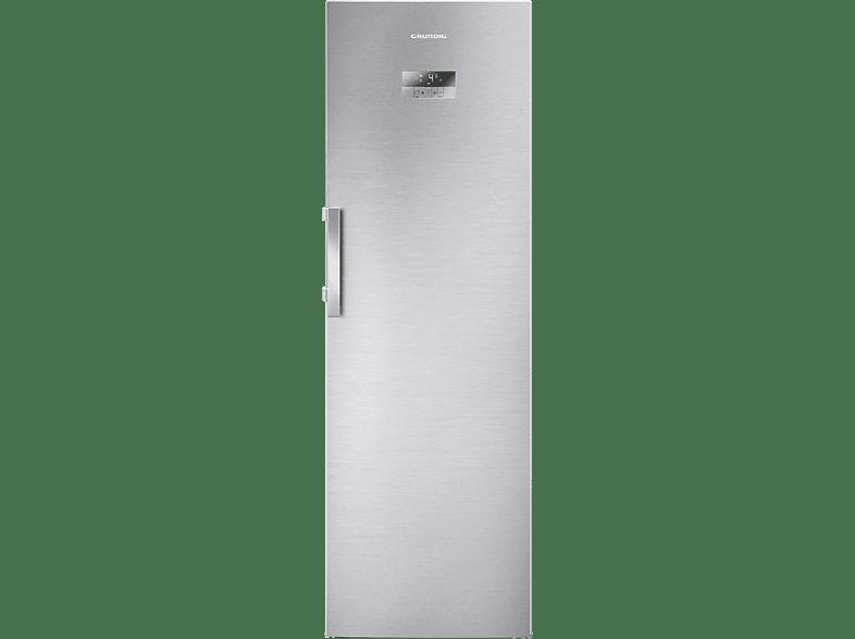 GRUNDIG GSN 10720 X  Kühlschrank (A++, 132 kWh, 1850 mm hoch, Edelstahl)
