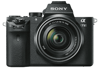 SONY Alpha 7 M2 Kit (ILCE-7M2K) Systemkamera 24.3 Megapixel mit Objektiv 28-70 mm, 7,6 cm Display, WLAN