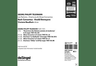 Bach Concentus/ Demeyere, Ewald / Baudhuin, Vincia - Les Nations-Ouvertures & Oboe Concerti  - (CD)