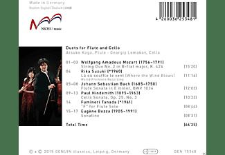 Atsuko Koga, Georgiy Lomakov - Duets For Flute And Cello  - (CD)