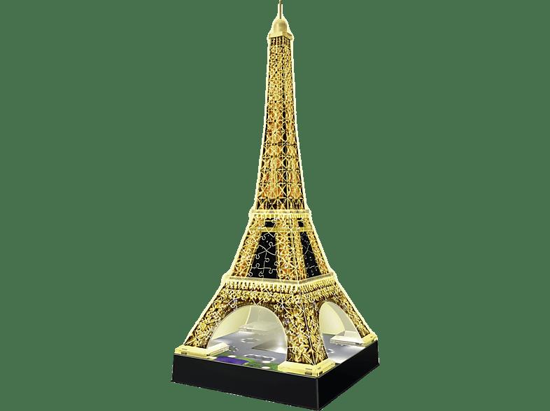 RAVENSBURGER Eiffelturm bei Nacht 3D Puzzle, Gold