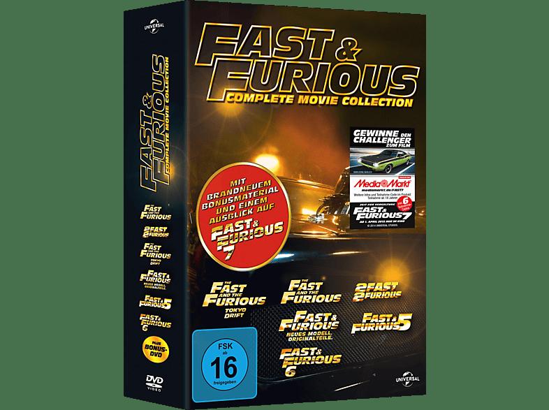Fast & Furious 1-6 (mit Bonus DVD / Media Markt Exklusiv) [DVD]