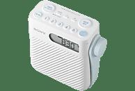 SONY ICF-S80 Uhrenradio (UKW, MW, Weiß)