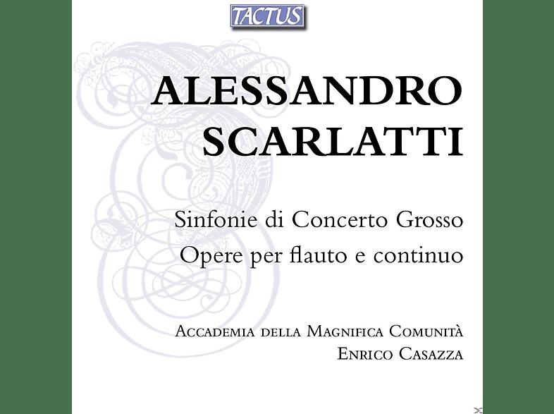 Enrico Casazza, Accademia della Magnfica Comunità - Sinfonie Di Concerto Grosso - Opere Per Flauto E Continuo [CD]