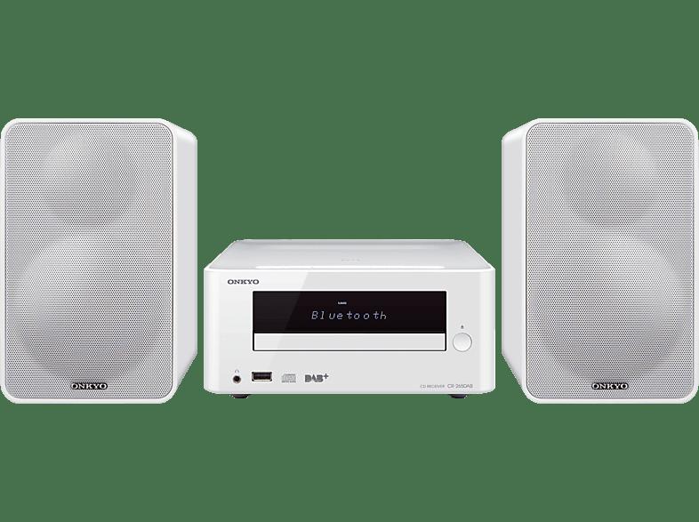 ONKYO CS-265 DAB Kompaktanlage (iPod Steuerung, Audio-CD, CD-R, CD-RW und CDs mit MP3-Kodierung, Weiß)