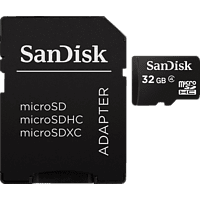 SANDISK Class 4, Micro-SDHC Speicherkarte, 32 GB
