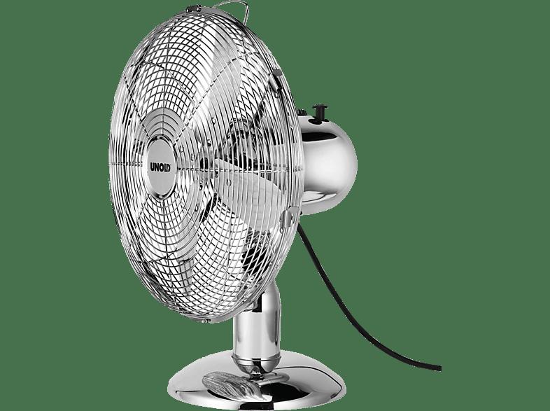 UNOLD 86830 Tischventilator Chrom/Edelstahl (35 Watt)