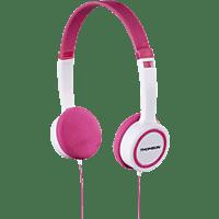 THOMSON HED1105 Kinder, On-ear Kopfhörer  Pink/Weiß