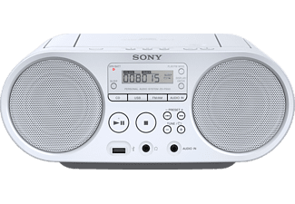 SONY ZS-PS50W - Boombox (AM, FM, Blanc)