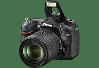 NIKON D7200 Kit Spiegelreflexkamera, 24.2 Megapixel, 18-105 mm Objektiv (ED, VR), WLAN, Schwarz