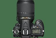 NIKON D7200 Kit Spiegelreflexkamera, 24.2 Megapixel, 18-140 mm Objektiv (ED, VR), WLAN, Schwarz