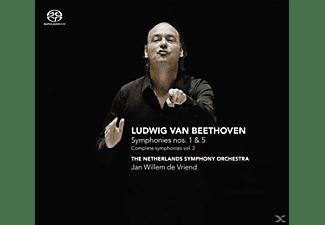 Netherlands Symphony Orchestra,Vriend,Jan Willem - Symponies 1 & 5 (Complete Symp  - (CD)