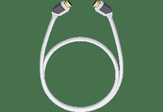 OEHLBACH High-Speed-HDMI®-Kabel mit Ethernet Shape Magic 170 1,7m HDMI Kabel, Weiß
