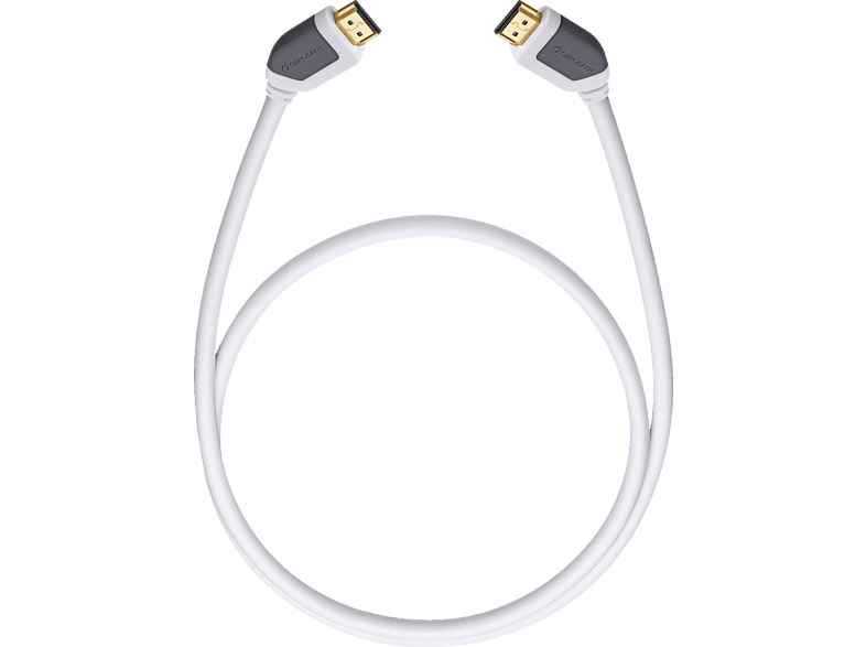 OEHLBACH High-Speed-HDMI®-Kabel mit Ethernet Shape Magic 750 7,5m HDMI Kabel, Weiß