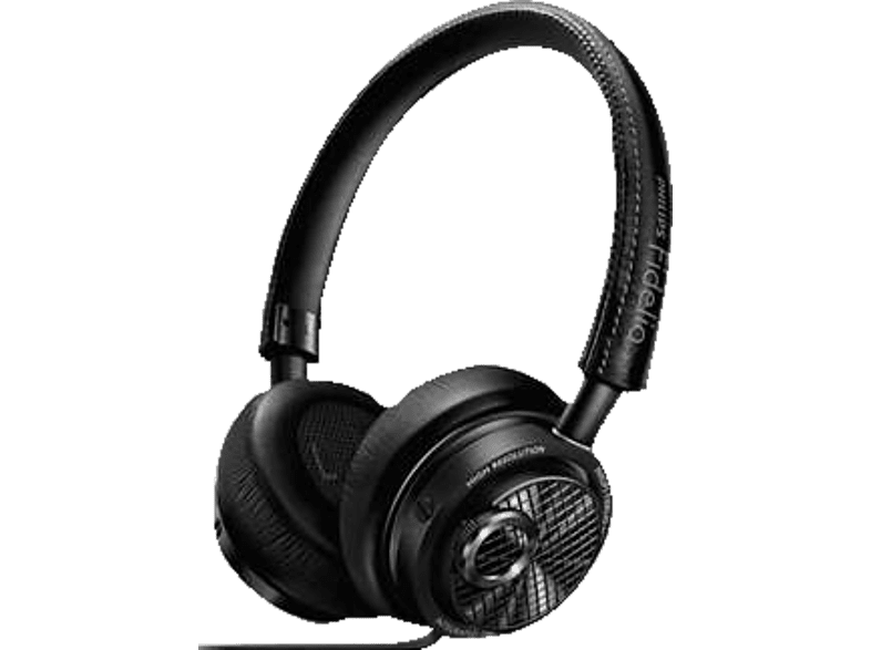 PHILIPS M 2L/00 Fidelio Kopfhörer, On-ear Kopfhörer  Schwarz