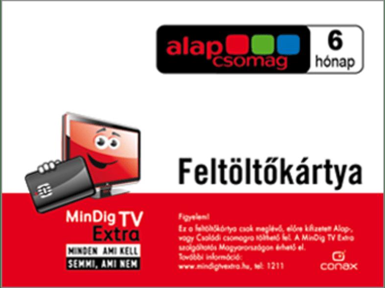 MINDIG TV EXTRA ALAP csomag 6 havi előre fizetett, FELTÖLTŐ KÁRTYA
