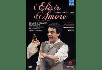 Rolando Villazon, Maria Bayo, Jean-Luc Chaignaud, Symphony Orchestra of the Gran Teatre del Liceu - L'elisir D'amore  - (CD + DVD Video)