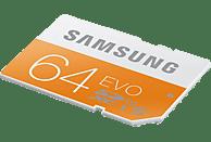 SAMSUNG MB-SP64D-EU EVO, SDXC Speicherkarte, 64 GB, 48 MB/s