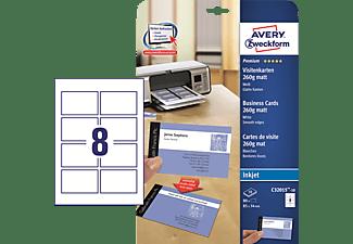 AVERY ZWECKFORM C32015-10 Quick + Clean Visitenkarten für Inkjetdruck 85 x 54 mm 85 x 54 mm A4  80 Karten / 10 Bogen