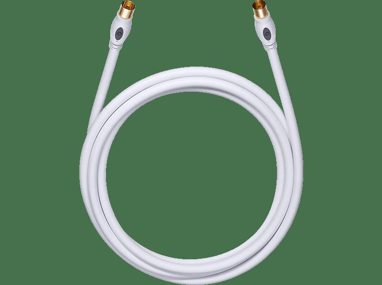 OEHLBACH Digitales Antennenkabel Transmission Plus 75 AK 0,75m Antennenkabel, Weiß