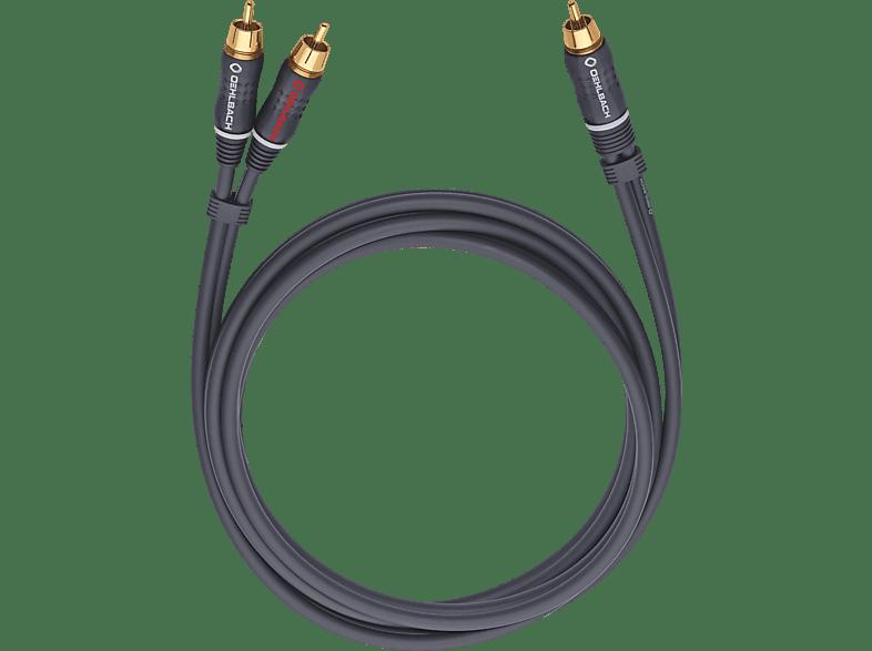 OEHLBACH Subwoofer Y-Cinch-Kabel BOOOM! Y-Adapterkabel 8,0m Adapterkabel, Anthrazit