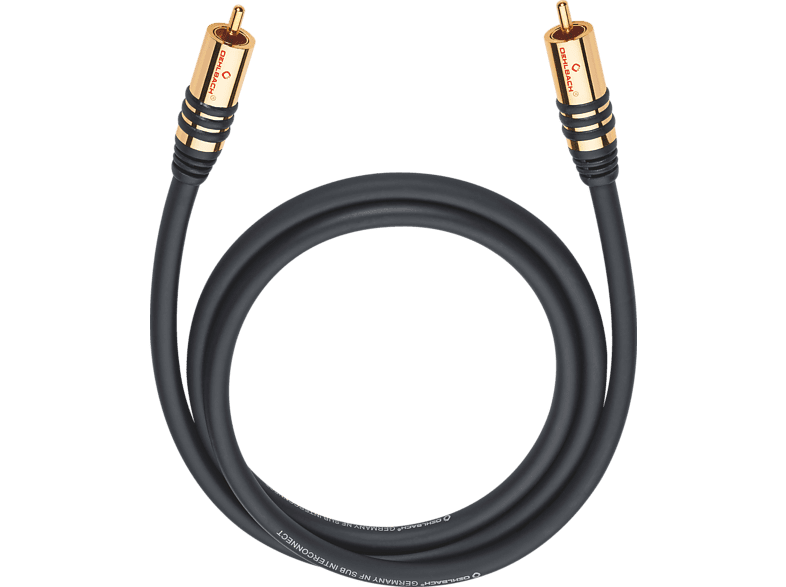 OEHLBACH Subwoofer Cinch-Kabel NF Subwooferkabel cinch/cinch mono 10,0m Subwooferkabel, Schwarz
