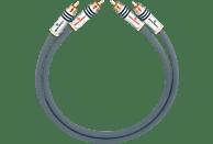 OEHLBACH NF-Audio-Cinchkabel, symmetrisch aufgebaut NF 14 Master Set 2x3,5m Audio Kabel, Anthrazit