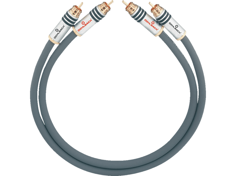 OEHLBACH NF-Audio-Cinchkabel, symmetrisch aufgebaut NF 14 Master Set 2x3m Audio Kabel, Anthrazit