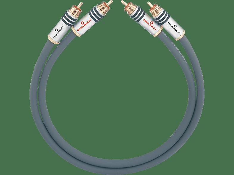 OEHLBACH NF-Audio-Cinchkabel, symmetrisch aufgebaut NF 14 Master Set 2x5m Audio Kabel, Anthrazit