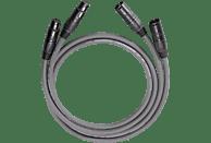 OEHLBACH NF-Audiokabel mit XLR-Stecker, symmetrisch aufgebaut NF 14 Master X 2x4,75m Audio Kabel, Anthrazit