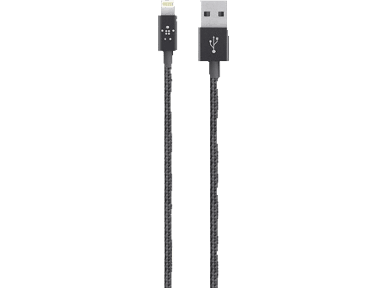 BELKIN Câble Lightning - USB MIXIT↑ Metallic Noir (F8J144BT04-BLK)