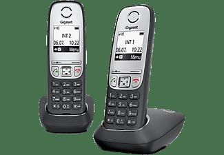 GIGASET Schnurlostelefon A415 Duo, schwarz (L36852-H2505-C101)
