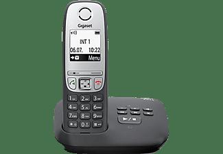 GIGASET Schnurlostelefon mit Anrufbeantworter A415A, schwarz (S30852-H2525-C101)