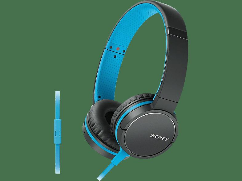 SONY MDR-ZX660AP, On-ear Kopfhörer  Blau