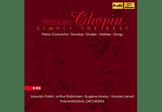 Maurizio Pollini, Arthur Rubinstein, Eugene Mursky, Konrad Jarnot, The Philharmonia Orchestra - Simply The Best: Klavierkonzerte/Sonaten/Etüden/+  - (CD)