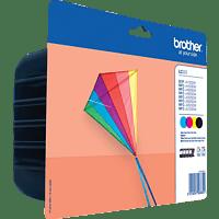 BROTHER LC 223 Tintenpatrone Value Pack, mehrfarbig