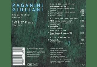 JAECKLE, KLAUS / TREIBER, FRIEDEMAN, Jaeckle,Klaus/Treiber,Friedemann Amadeus - Paganini,Giuliani  - (CD)
