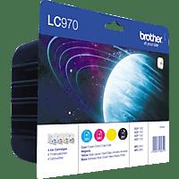 BROTHER LC-970 Tintenpatrone Value Pack mehrfarbig (LC970VALBPRF)