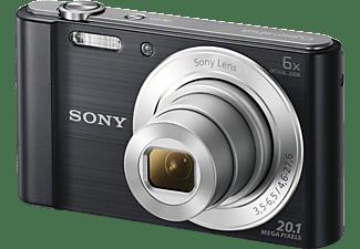SONY Cyber-shot DSC-W810 Digitalkamera Schwarz, 20.1 Megapixel, 6x opt. Zoom, TFT-LCD