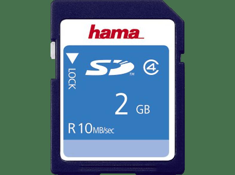 HAMA 055377, SD Speicherkarte, 2 GB, 10 MB/s