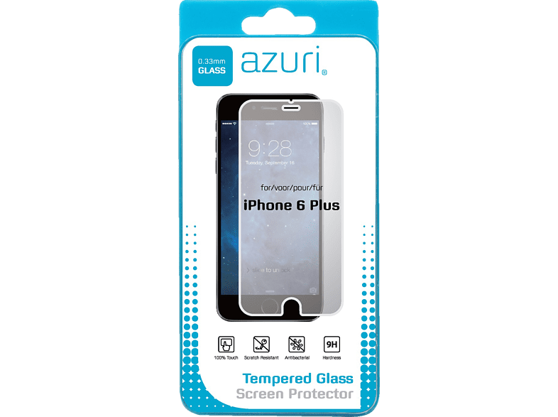 AZURI Verre trempé iPhone 6 + Transparent (AZSPTGIPH6-5.5)