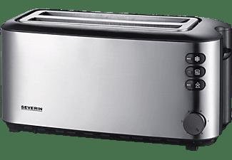 SEVERIN AT 2509 Toaster Edelstahl gebürstet/Schwarz (1400 Watt, Schlitze: 2)