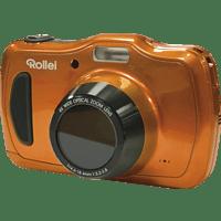 ROLLEI Sportsline 100 Digitalkamera Orange, 20 Megapixel, 4x opt. Zoom, LCD-Panel