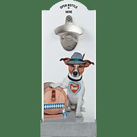 CONTENTO 866358 Hund mit Fass Wandflaschenöffner