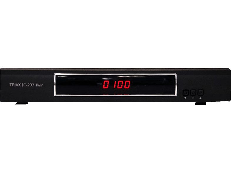 TRIAX Triax-C-237 Digitaler HD-Twin Kabel-Receiver (HDTV, Twin Tuner, DVB-C, Schwarz)