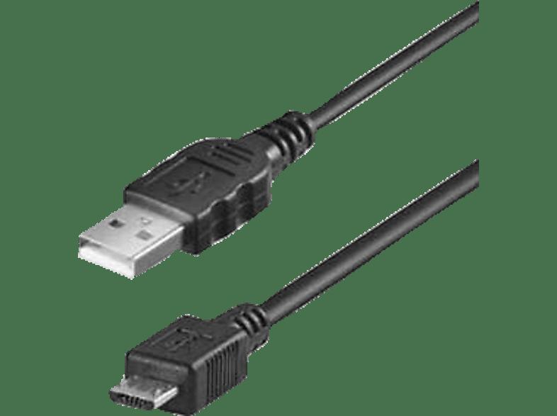 AGM 25817, Micro-USB Datenkabel, 1.8 m, Schwarz