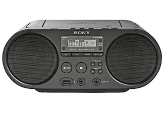 Radio CD - Sony BoomboxZsps50B, Negro