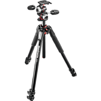 MANFROTTO MK055XPRO3-3W Dreibein Stativ, Schwarz, Höhe offen bis 1830 mm