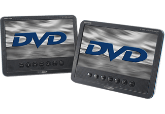 "CALIBER MPD278 Tragbarer 7"" TFT LCD-Bildschirm mit integriertem DVD-Player + 7"" TFT LED-Monitor"