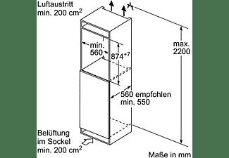 BOSCH KFR21VF30 Kühlschrank (97 kWh/Jahr, A++, 874 mm hoch, Weiß)